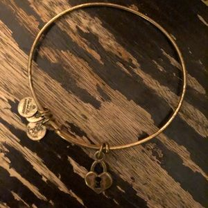 Alex and Ani Gold Locket Bracelet